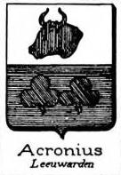 Acronius Coat of Arms / Family Crest 1