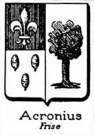 Acronius Coat of Arms / Family Crest 0