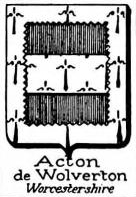 Acton Coat of Arms / Family Crest 12