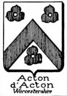 Acton Coat of Arms / Family Crest 4