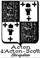 Acton Coat of Arms / Family Crest 5