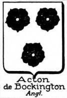 Acton Coat of Arms / Family Crest 8