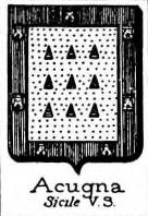 Acugna Coat of Arms / Family Crest 1