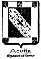 Acuna Coat of Arms / Family Crest 3
