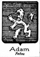 Adam Coat of Arms / Family Crest 5