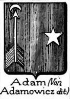Adam Coat of Arms / Family Crest 12