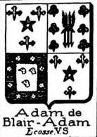 Adam Coat of Arms / Family Crest 13