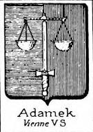 Adamek Coat of Arms / Family Crest 0