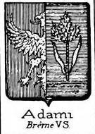 Adami Coat of Arms / Family Crest 4