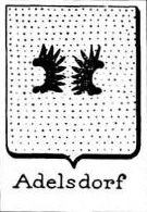 Adelsdorf Coat of Arms / Family Crest 1