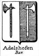 Adelshofen Coat of Arms / Family Crest 2