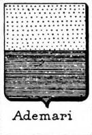 Ademari Coat of Arms / Family Crest 1