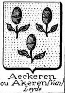 Aeckeren Coat of Arms / Family Crest 0