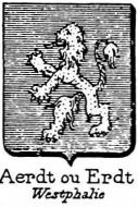 Aerdt Coat of Arms / Family Crest 0