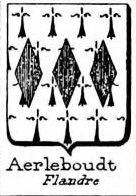 Aerleboudt Coat of Arms / Family Crest 0