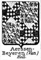 Aerssen Coat of Arms / Family Crest 1