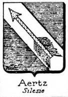 Aertz Coat of Arms / Family Crest 0