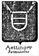 Aettinger Coat of Arms / Family Crest 0