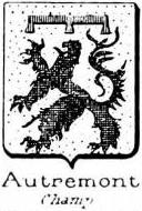 Autremont Coat of Arms / Family Crest 1