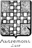 Autremont Coat of Arms / Family Crest 0