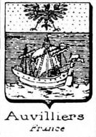 Auvilliers Coat of Arms / Family Crest 1