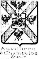 Auvilliers Coat of Arms / Family Crest 2