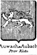 Auwach Coat of Arms / Family Crest 0