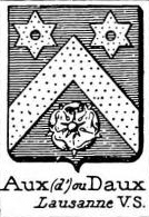 Aux Coat of Arms / Family Crest 4