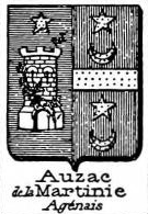 Auzac Coat of Arms / Family Crest 1