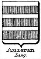 Auzeran Coat of Arms / Family Crest 0