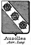 Auzolles Coat of Arms / Family Crest 1