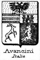 Avancini Coat of Arms / Family Crest 2
