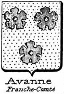 Avanne Coat of Arms / Family Crest 1