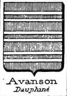 Avanson Coat of Arms / Family Crest 0
