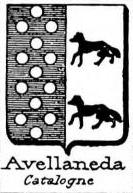 Avellaneda Coat of Arms / Family Crest 1