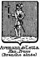 Avemann Coat of Arms / Family Crest 1