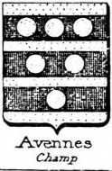 Avennes Coat of Arms / Family Crest 1