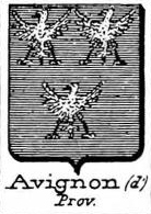 Avignon Coat of Arms / Family Crest 1