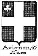 Avignon Coat of Arms / Family Crest 2