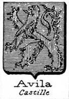 Avila Coat of Arms / Family Crest 2