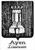 Ayen Coat of Arms / Family Crest 0