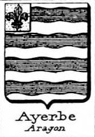 Ayerbe Coat of Arms / Family Crest 1
