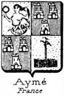Ayme Coat of Arms / Family Crest 1
