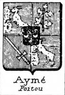 Ayme Coat of Arms / Family Crest 2