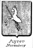 Ayrer Coat of Arms / Family Crest 2