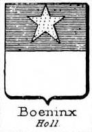 Boeninx Coat of Arms / Family Crest 0