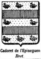 Cadoret Coat of Arms / Family Crest 1