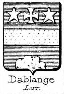 Dablange Coat of Arms / Family Crest 0