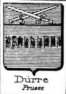 Durre Coat of Arms / Family Crest 1