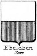 Ebeleben Coat of Arms / Family Crest 4